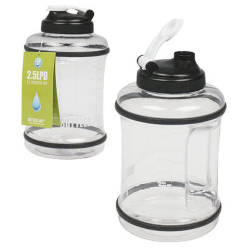 Clear Water Bottle with Handle 83oz