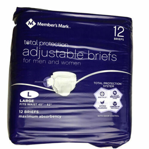 Total Protection Unisex Briefs- 2 packs