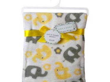 """Soft Baby Blanket on Hanger 30""""x 30"""""""