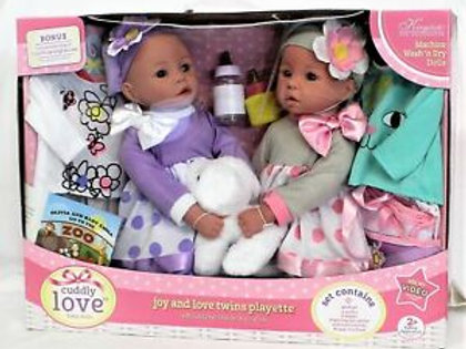 Cuddly Love Baby Dolls Twins Playette
