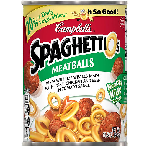 Campbell's SpaghettiO's Canned Pasta with Meatballs 15.6 oz