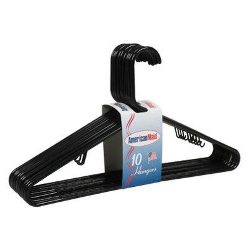 10 Pack Plastic Hanger- Black