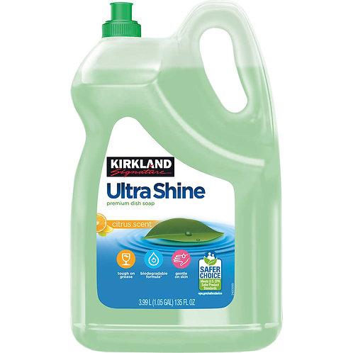 Kirkland Signature Ultra Shine Dishwashing Liquid, Citrus, 135 oz