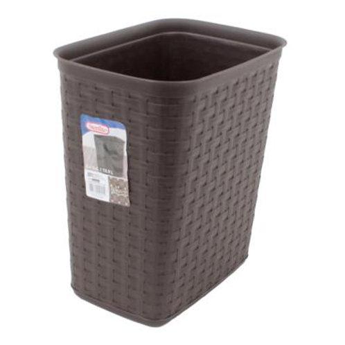 Sterilite 3.4gal Gray Weave Wastebasket
