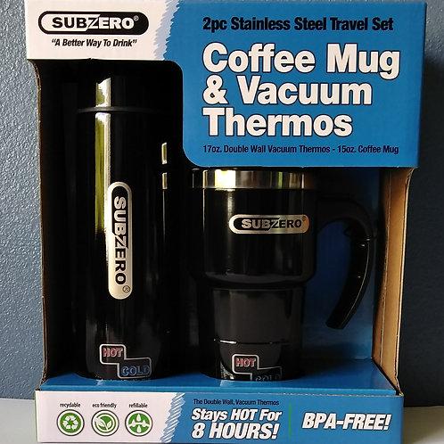 SubZero Coffee Mug and Vacuum Thermos