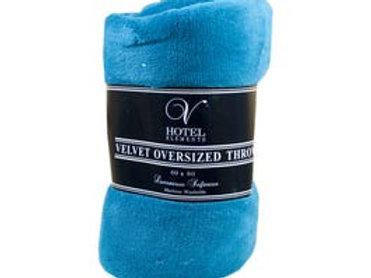 "Oversized Velvet Throw Blanket in Assorted Colors 80"" x 60"""