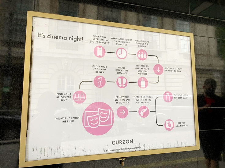 Infographic at Curzon Mayfair