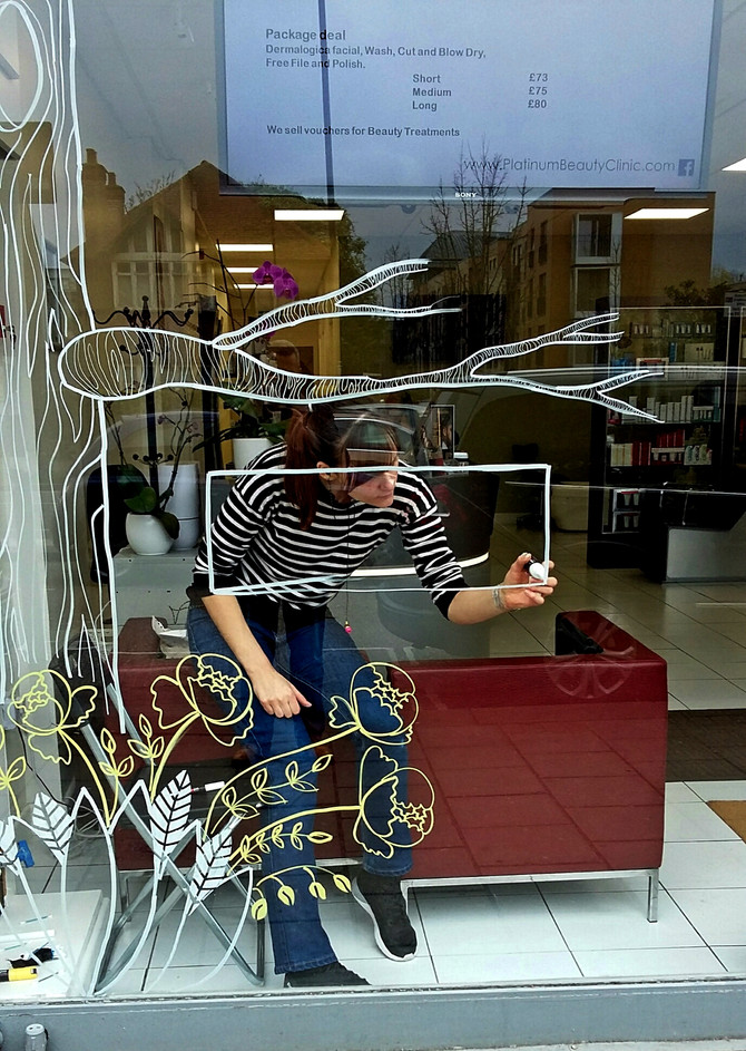 Mothers Day Window Painting