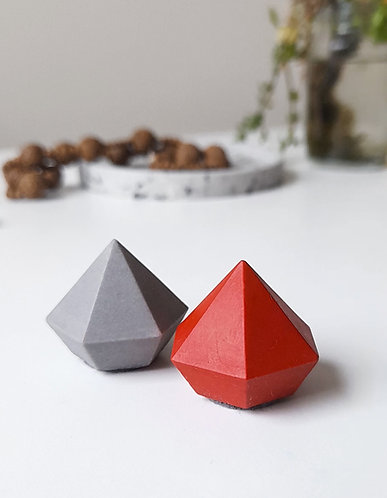 Set of 2 Stone Effect Ring Holders