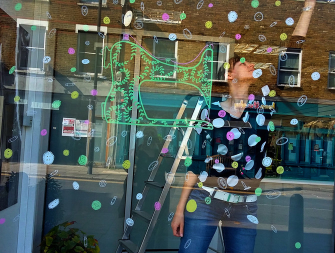 Window painting for SEW.