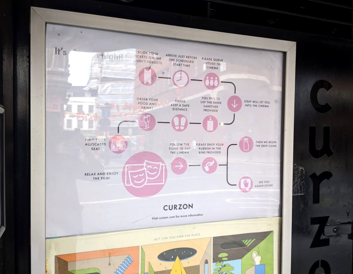 Infographic at Curzon Soho