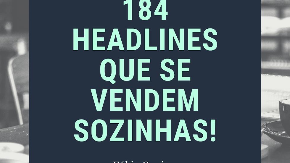 Pacote com 184 Headlines Que Se Vendem Sozinhas