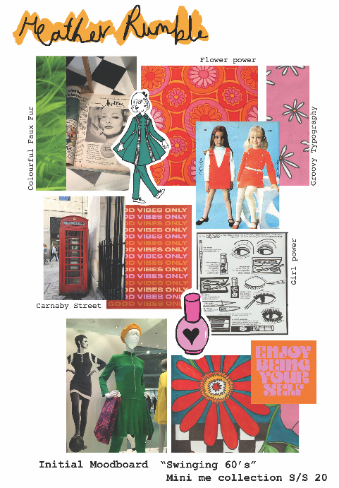 """Swinging 60's"" Initial Moodboard"