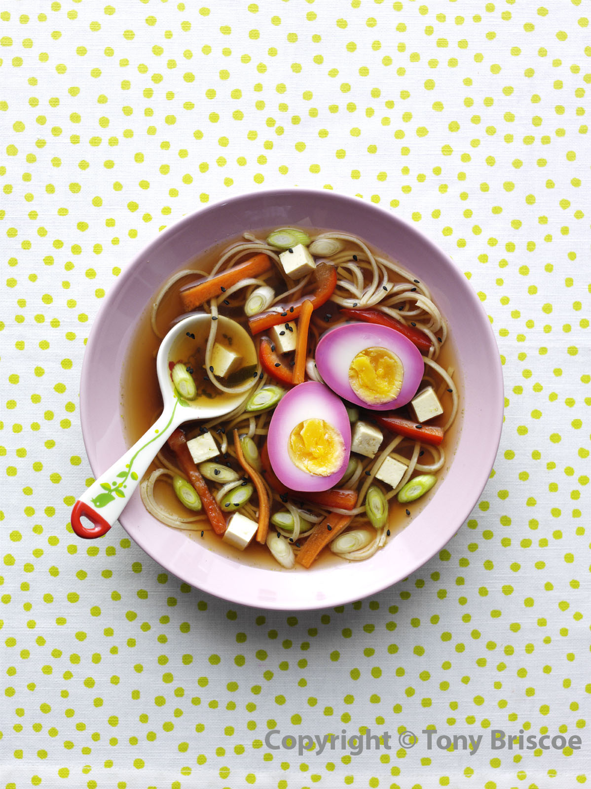 Ramen with pink eggs 2 - watermark