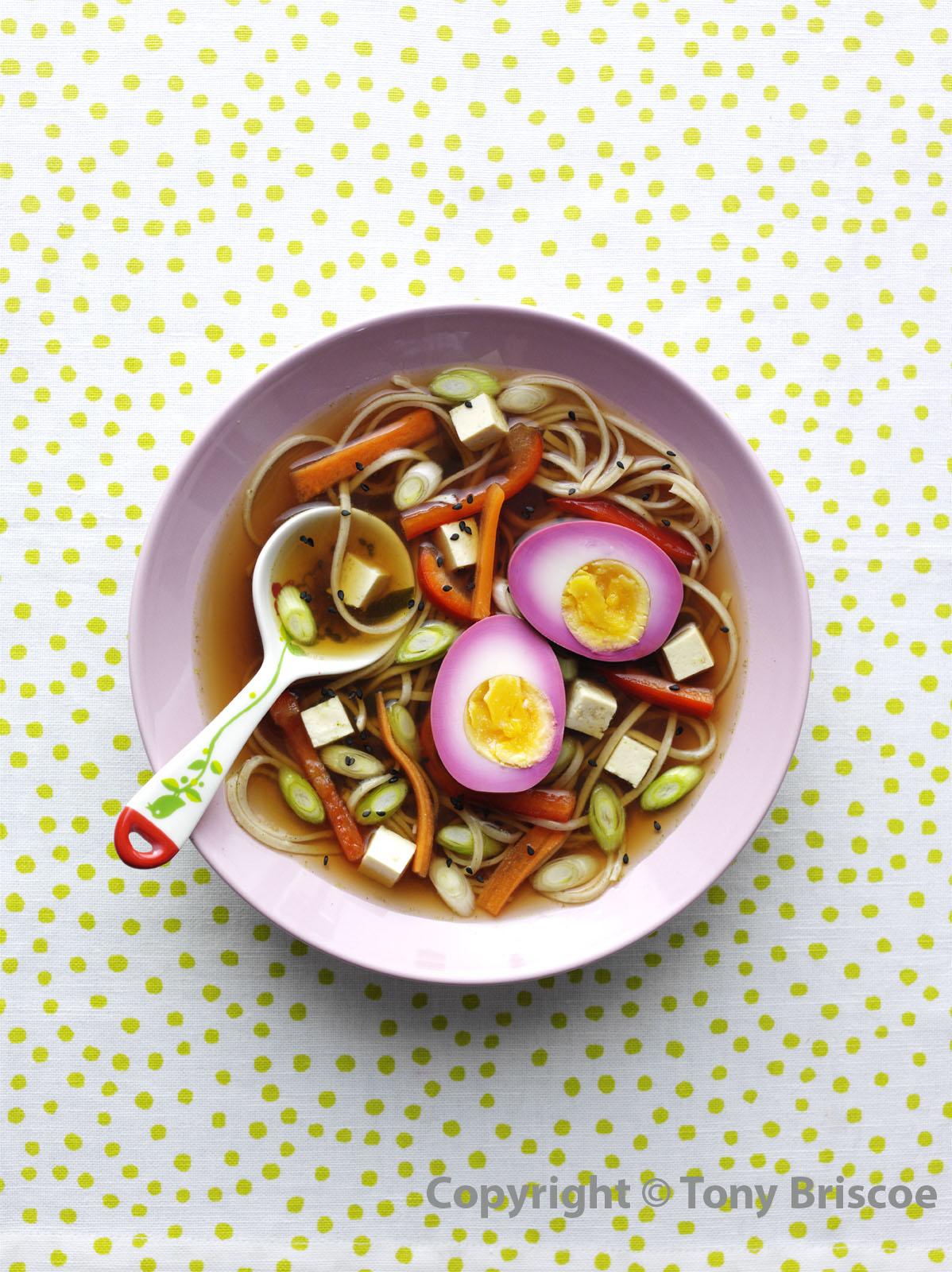 Ramen with pink eggs 2 - watermark