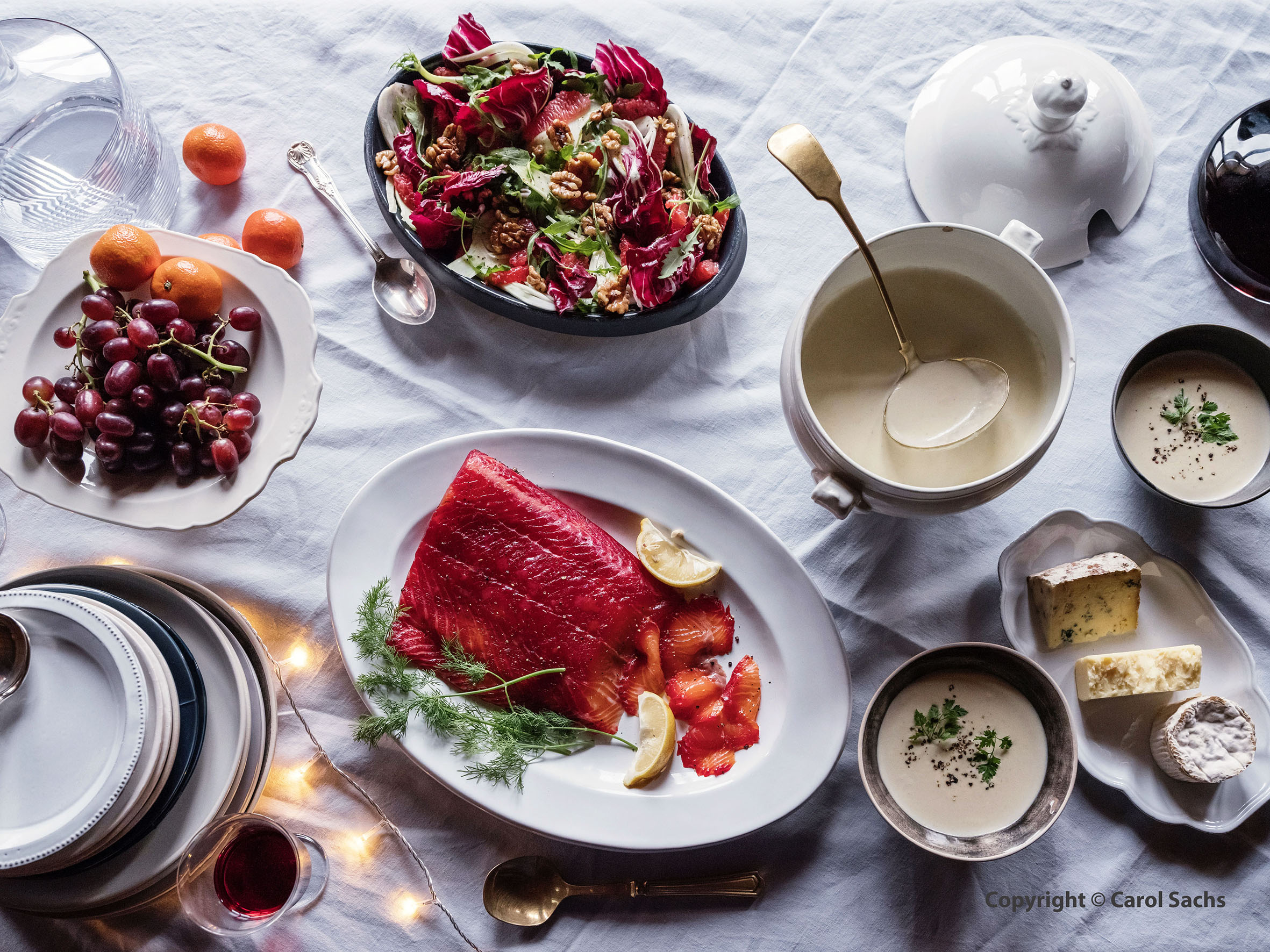 Christmas evening salmon feast website