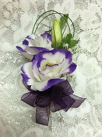 lisianthus corsage weddings by anderson florist Tillamook Oregon
