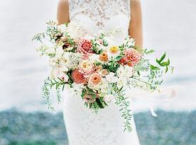 horizonal bouquet coral