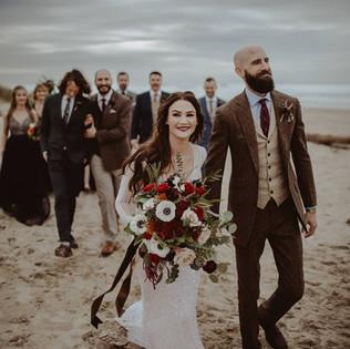 fall classic beach wedding.