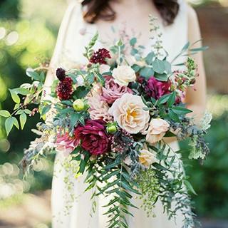 fall wedding loose garden bouquet