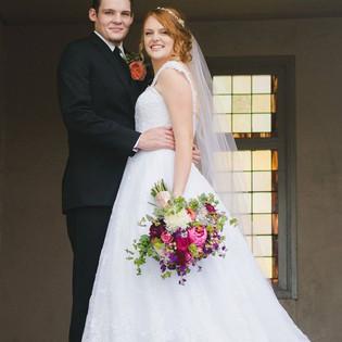 Fall garden wedding. With Garden roses,
