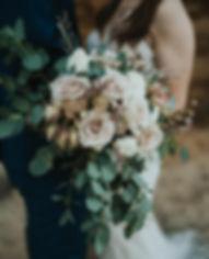 cascading blush bridal bouquet