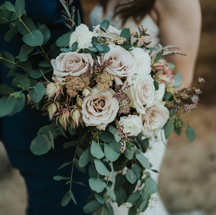Small blush cascading bridal bouquet