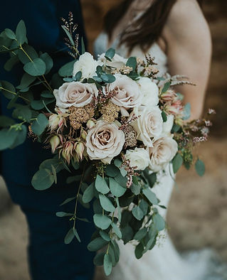 cascading blush bridal bouquet
