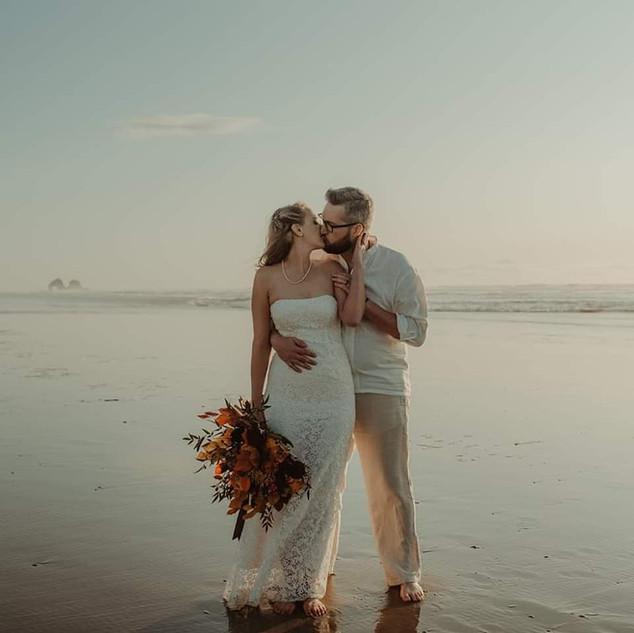 fall beach wedding.