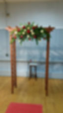 cedar arch rental from Anderson florist Tillamook Oregon