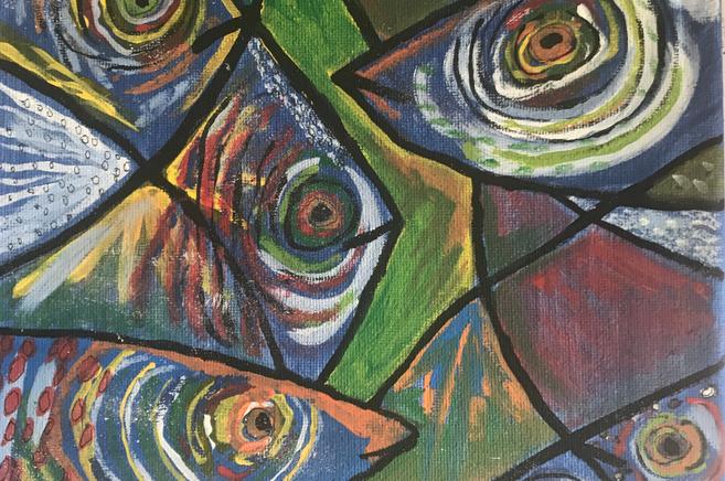 Fish Acrylic Painting on Canvas