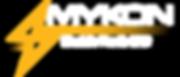 Logo Mykon (White Font - Trans BG).png