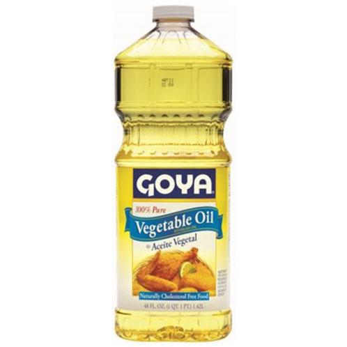 Goya Vegetable Oil (100% Soybean), 48 oz.
