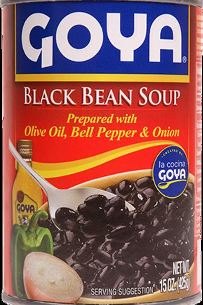 Goya Black Bean Soup (Olive Oil, Bell Pepper, Onion), 29 oz.