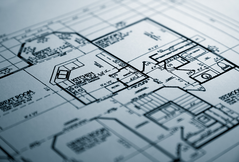 Black and White Home Blueprints