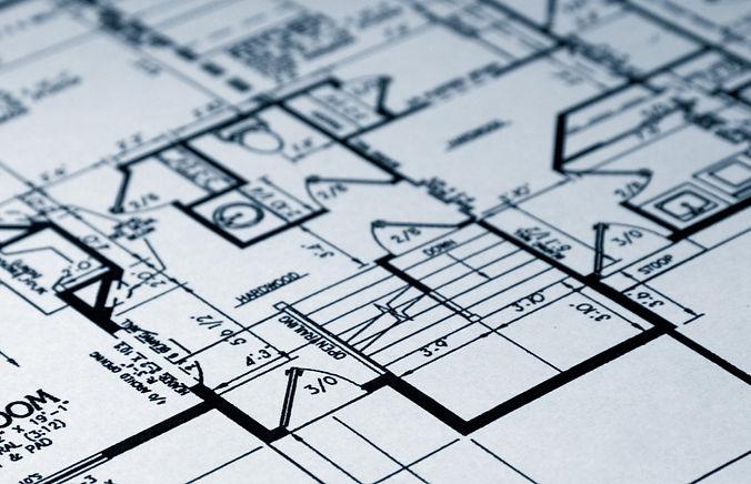 Black and White House Blueprints