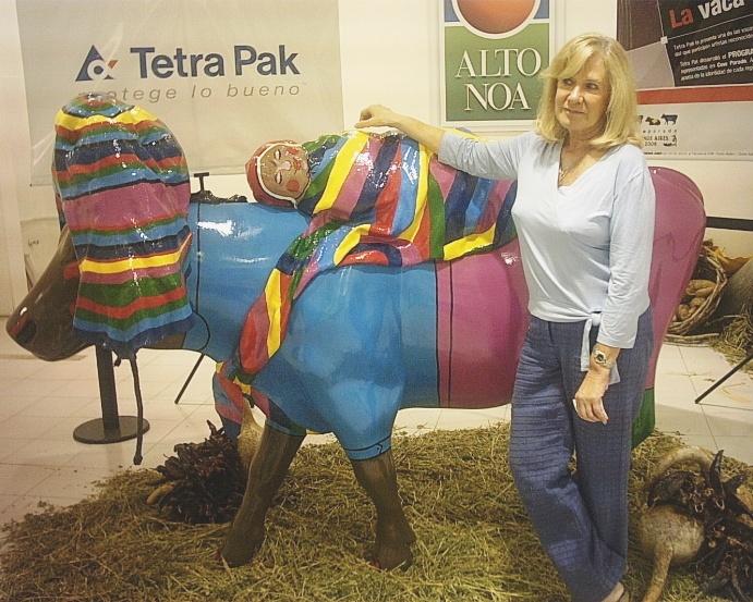 Vaca expuesta en Shopping Alto Noa