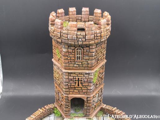 Projet de peinture d'une tour à dé imprimée en 3D