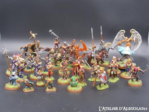 Lot de figurines pour jeu de rôle : SDA, WHB ...