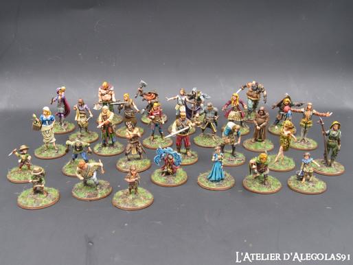 Peinture d'un lot de 30 figurines pour jeu de rôles
