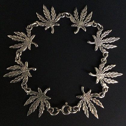 .925 Cannabis Leaf Bracelet