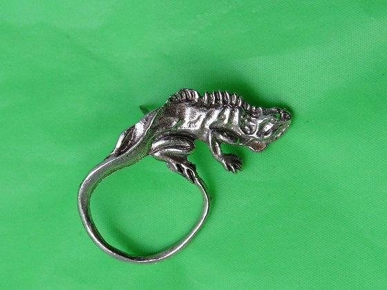 Pewter Iguana Eyeglass Holder/ Tie Tack Pin