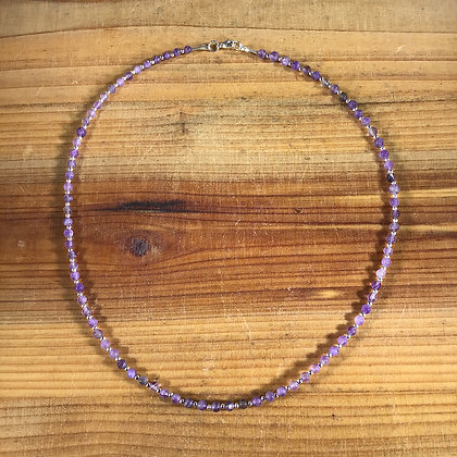 Amethyst and .925 Sterling Silver Neclace