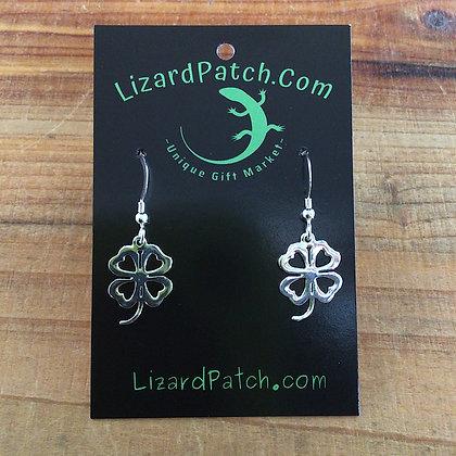 .925 Four Leaf Clover Earrings