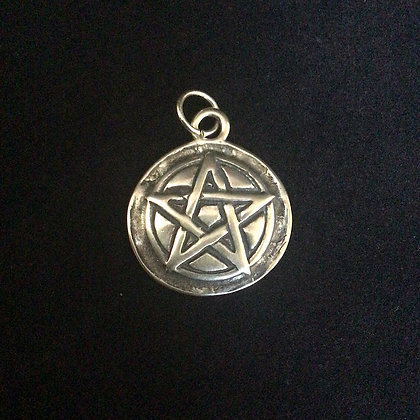 .925 Double Sided Pentacle Pendant