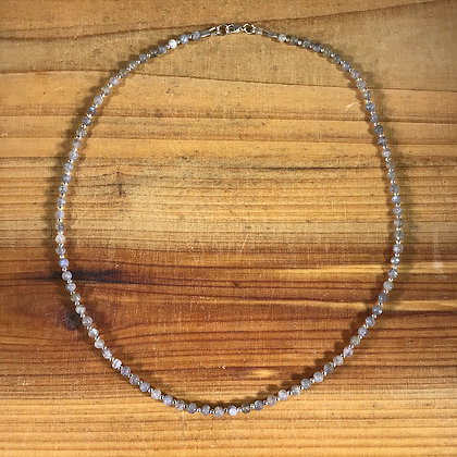 Labradorite and .925 Sterling Silver Necklace