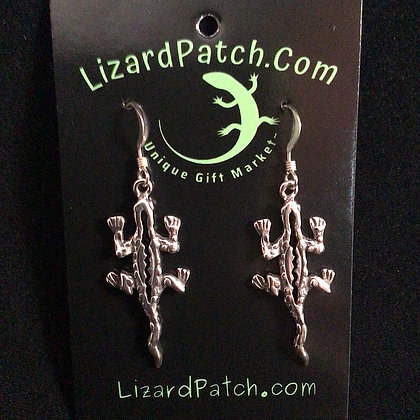 .925 Large Textured Lizard Earrings