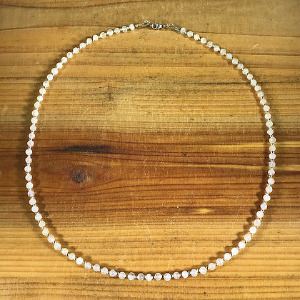Moonstone and .925 Sterling Silver Necklace