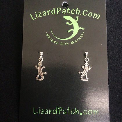 . 925 Silver Lizard Earrings