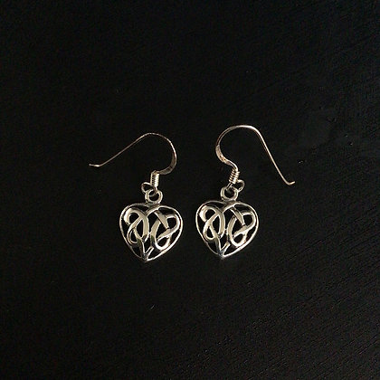.925 Celtic Knot Heart Earrings